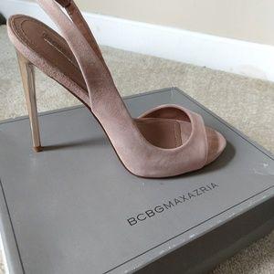 BCBG MAXAZRIA sand goat leather high heel shoe